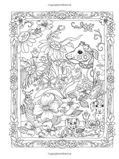 Creative Haven Dazzling Dogs Coloring Book, Marjorie Sarnat Dover Coloring Pages, Dog Coloring Page, Cool Coloring Pages, Doodle Coloring, Mandala Coloring Pages, Animal Coloring Pages, Printable Coloring Pages, Coloring Sheets, Coloring Books
