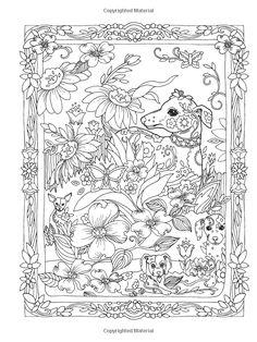 Amazon.com: Creative Haven Dazzling Dogs Coloring Book, Marjorie Sarnat