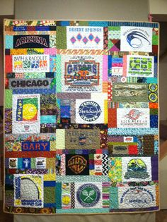 Tshirt quilt for Gary 2