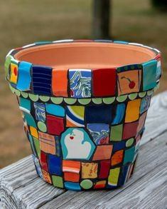 Custom Mosaics by PeaceByPieceCo on Etsy Mosaic Flower Pots, Mosaic Pots, Peace By Piece, Contemporary Dinnerware, Michigan Cherries, Mosaic Bottles, Broken China, Thrifting, Upcycle