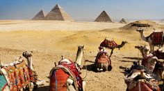 Pyramids of Giza. Giza, Egypt. Nearest airport: Cairo International Airport (CAI). Way to get there: www.getgoing.com