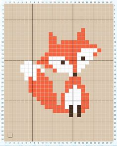 How to Cross Stitch on Crochet & Parker's Fox Pillow Baby Knitting Patterns Pillow Cross-stitch fox pattern (here on the hook) – tutorial I have both a graph cross stitch pattern and in-depth video tutorial to help you with this technique but it is re Cross Stitching, Cross Stitch Embroidery, Embroidery Patterns, Hand Embroidery, Knitting Patterns, Knitting Charts, Loom Patterns, Small Cross Stitch, Cross Stitch Charts