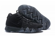 10f735b779752f Shop Nike Kyrie 4 Marble Triple Black Basketball Shoe For Sale