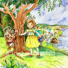 My Portfolio Illustration Style  This is an illustration from my portfolio which is done in whimsical style and the girl and the rabbit are semi realistic. The coloring done is water color and a slight use of pencil color is also done to make the illustration look finer. This style of illustration for children books is really loved by the children.