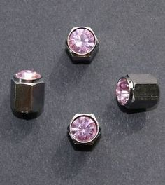 Valve Caps: Pink Diamante (Set of 4) from Me-Mo - Funky Car Accessories for Girls. Great Gift Ideas!