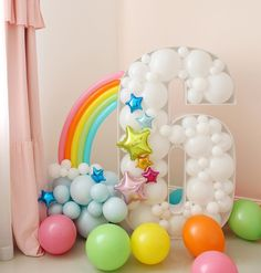 Rainbow Birthday Party, Unicorn Birthday Parties, Unicorn Party, Birthday Party Themes, Happy Birthday, Birthday Balloon Decorations, Diy Party Decorations, Birthday Balloons, Ballon Crafts