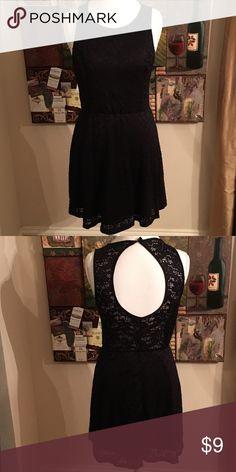Black lace Dress size M Black lace dress. No makers tag. Size M Dresses Midi