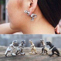 dinosaur earrings| discount: 20off1455  hipster nerdy grunge harajuku dinosaur fachin cute earrings jewelry accessories under10 under20 under30 discount newchic