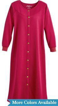 Heathered Sweatshirt Snap-Front Robe  864ae7272
