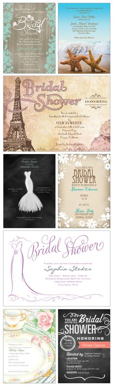Planning a bridal shower? Set your theme, invite in style and shower her in love!