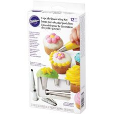 12 Piece Cupcake Decorating Set. Just in case someone wants to buy me a present