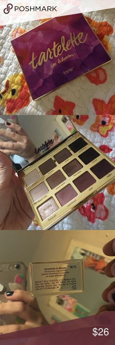 Tartelette In Bloom Palette Only truly used a few shades in this palette. tarte Makeup Eyeshadow
