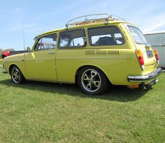 Yellow VW squareback (Volkswagen) by notputtingupshelves, via Flickr