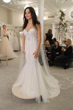 "Season 14 Featured Dress: Pnina Tornai. Sparkle embellishment. Fitted with boning and trumpet bottom. $6,600. Style: Custom- ""SASHA"""