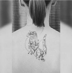 Trendy Tattoos, New Tattoos, Tattoos For Guys, Cool Tattoos, Tatoos, Elephant Tattoos, Animal Tattoos, Otter Tattoo, Ferret Tattoo