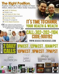 Learn More about this Wonderful Home Base Business Opportunity to help create stable Retirement Income and better overall Health & Wealth! Join us Daily - Monday thru Friday at 1pm and 10pm Eastern standard times. Then, Sign Up with me at http://JoinKesha.info