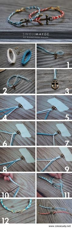 DIY anchor jewelry