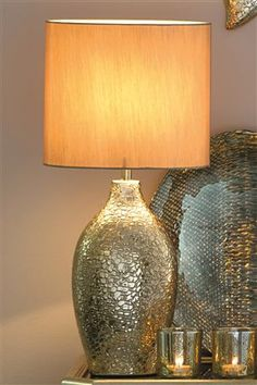 Gold Croc Effect Table Lamp
