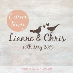 Lovebirds - Custom Wedding Stamp 'Save The Date'