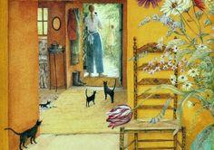 .An illustration from 'The Hidden House' by Angela Barrett.