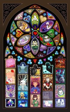 Undertale stained glass collab by longestdistance on DeviantArt