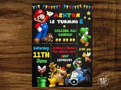 Free Printable Super Mario Bros Invitation Template Drevio