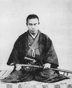 """Nakaoka Shintarō (中岡 慎太郎 May 6, 1838 – December 12, 1867) was a samurai in Bakumatsu period Japan, and a close associate of Sakamoto Ryōma in the movement to overthrow the Tokugawa shogunate. December 10, 1867 he travelled to Kyoto for discussions with Sakamoto Ryōma, but was killed together with Sakamoto when unknown assailants attacked their lodgings (i.e. the """"Ōmiya Incident"""")."""
