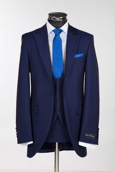 Royal Blue Three Piece Slim Fitting Wedding suit from Jack Bunneys