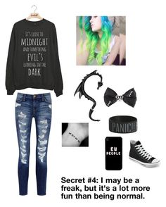 """""""Untitled #125"""" by emohipster ❤ liked on Polyvore featuring Current/Elliott and Converse"""
