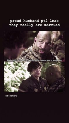 He's like that's my wife 😂 - Smart Games The 100 Cast, The 100 Show, It Cast, History Puns, Netflix Movie List, 100 Memes, The 100 Clexa, Bob Morley, I Ship It