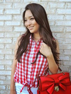 One of our fav bloggers: @Sensible Stylista posted our #NADINE #gingham top on today's blog post. Check it out! :)