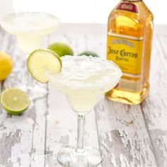 The refreshing classic margarita made with fresh limes and lemons.