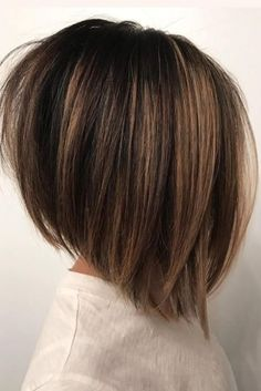 Short Hairstyles For Thick Hair, Hairstyles With Bangs, Hairstyles 2018, Celebrity Hairstyles, Pretty Hairstyles, Layered Bob Hairstyles, A Line Hairstyles, Short Hair Cuts For Women Bob, Hairstyle Short
