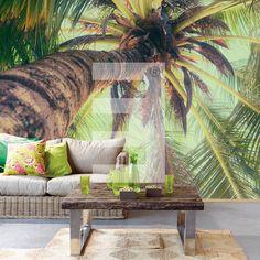 Behang van Eijffinger - Eijffinger Ibiza 330285 - Dit is vliesbehang. Makkelijk plakken dus door de muur in te smeren in plaats van het behang. - Deze fotowand is verdeeld in banen