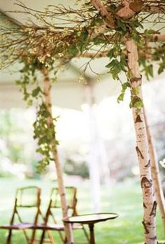 For Ceremony if under tent or indoors if it rains– Love this!