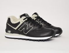 timeless design 5042f ead26  NewBalance 574 BL Fur Black  sneakers Chaussure Basket, Noir, New Balance  574