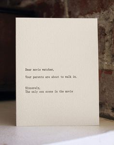 Hilarious letters to random things from random things!
