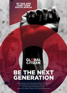 Our senior Graphic Designer's concept for Global Citizen. Focus of the Campaign: The faces of those we help.