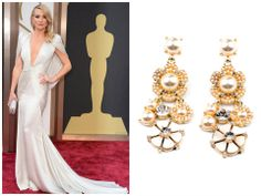 Dangle Pearl Earrings with White Draped Gowns