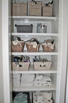 Turning a closet into open shelving...