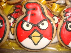 Angry Birds Sugar Cookies decorated with royal icing.  Individually wrapped!