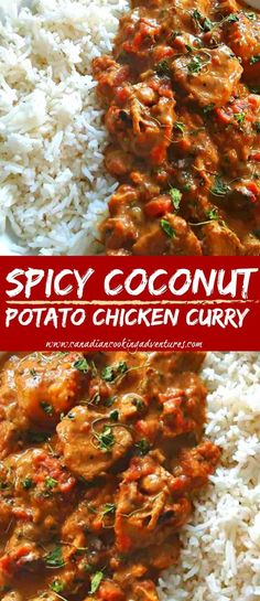 indian food This is Spicy Coconut Chicken Curry is a fusion dish, packed with flavor. As you may know, I love Thai and Indian food. So you will always find, all the indian spices in my pan Spicy Recipes, Indian Food Recipes, Asian Recipes, Cooking Recipes, Healthy Recipes, Healthy Food, Cooking Ribs, Oven Recipes, Indian Recipes
