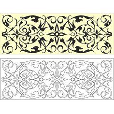 Free Vector Marquetry Ornamental Design Free Vectors