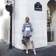 Caroline DaurさんはInstagramを利用しています:「Arrived in PARIS 🦋」