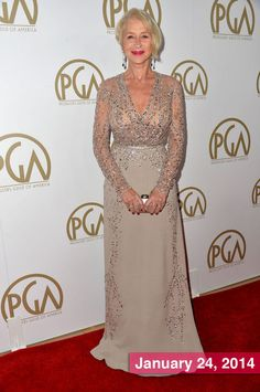 Best-Dressed Celebrity Helen Mirren in Elie Saab