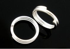 JEWELLERY MAKING SUPPLIES     1000 Pieces Double Loop Jump Rings   Silver Colour    FREE DELIVERY