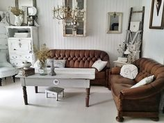 tufted furniture, soft neutral tones
