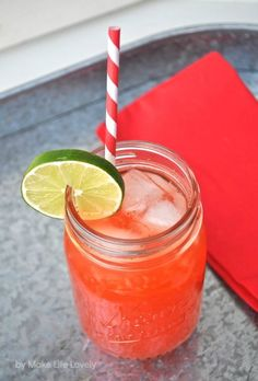 Strawberry Limeade Recipe, by Make Life Lovely