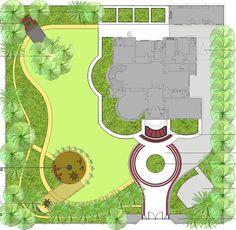 Дизайн двора частного дома своими руками: пошаговый план Создать план. Он должен учесть все то, что было написано ранее. Продумать необходимый минимум, того