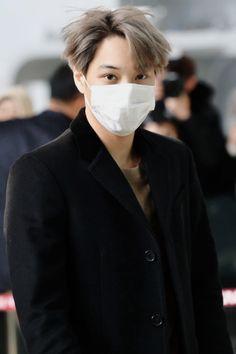 Kai - 161129 Gimpo Airport, departing for Tokyo Credit: Asia Today. Baekhyun Chanyeol, Taemin, Kim Kai, Luhan And Kris, Kim Jong Dae, Xiuchen, Exo Korean, Kim Minseok, Kpop Exo